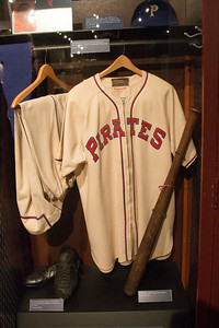 Honus Wagner 1946 uniform and his locker -- A trip to the Baseball Hall of Fame, Cooperstown, NY, June 2014