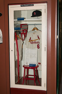 Stan Musial's locker and Cardinals uniform from last major league game (1963) -- A trip to the Baseball Hall of Fame, Cooperstown, NY, June 2014