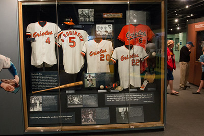 Orioles of the late 1960s, 1970s display case -- A trip to the Baseball Hall of Fame, Cooperstown, NY, June 2014