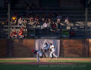 Cooperstown Hawkeyes game on July 3 against the Elmira Pioneers at Doubleday Field in Cooperstown, New York Batter: Emilio Alonso of Back Hawk C.C. in Moline, Ill