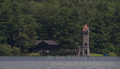 Kingfisher Tower on Lake Otsego built in 1876 by Edward Clark (was a founder of the Singer Sewing Machine Company) in Cooperstown, New York