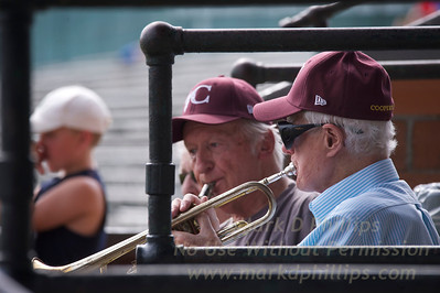 Live music at the Cooperstown Hawkeyes game on Wednesday, July 3, 2013, at Doubleday Field in Cooperstown, New York.