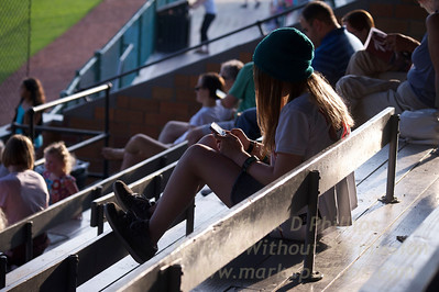 Eliza Phillips at Cooperstown Hawkeyes game on July 3 against the Elmira Pioneers