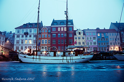 Winter morning - Nyhavn, Copenhagen, Denmark