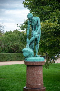Statue near The Little Mermaid, Den Lille Havfrue, Langelinie, København, Copenhagen, Denmark.