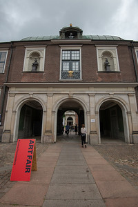 "Art Fair at Kunsthal Charlottenborg (""Charlottenborg Exhibition Hall"") in Copenhagen, Denmark which is the official exhibition gallery of the Royal Danish Academy of Art. The palatial residence was constructed in 1672–83 for Ulrik Frederik Gyldenløve, in the Baroque architectural idiom shared by Holland, England and Denmark. The structure contains an extensive library of the fine arts."