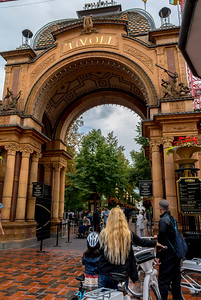 Copenhagen, Denmark, Danish Tourist Site, Tivoli, Amusement Park, Entrance