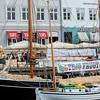 Copenhagen, Denmark, Street Scenes, Gammel Strand, Canal Scene, Fruit Market
