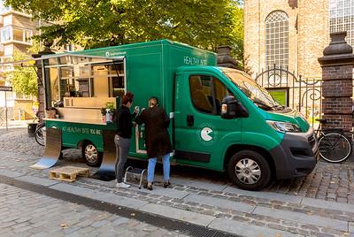 Copenhagen, Denmark,  Food Trucks on Street