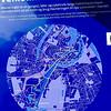 Copenhagen, Denmark, Map, Sign on Waterway, CIty Center, detail,