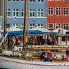 Copenhagen, Denmark, Street Scenes, Gammel Strand, Canal Scene, Crowd Tourists,