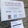Copenhagen, Denmark, Detail Sign, Pop up SHop in City Center