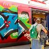 Copenhagen, Denmark,  Inside subway, Trains