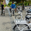 Copenhagen, Denmark, Street Scenes, People Riding Bicyles