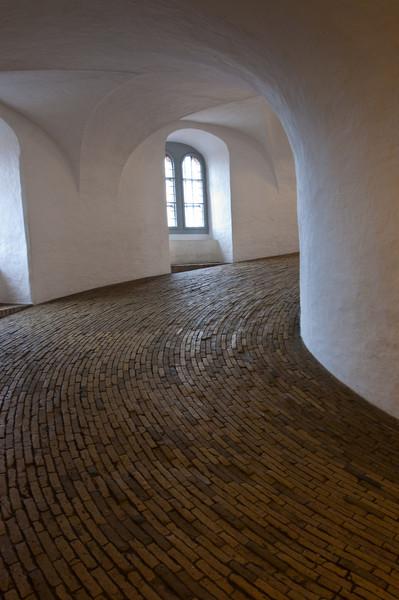 Walking up Rundetarn (Round Tower)