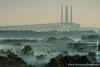 Early Morning Mist over Amager and Øresundsbroen