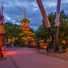 Lighted Chinese Pagoda