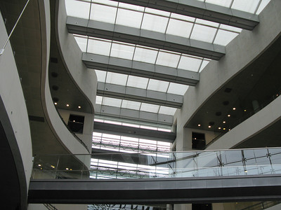"Atrium space inside the ""Black Diamond""."