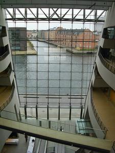 View from Black diamond atrium across the river.
