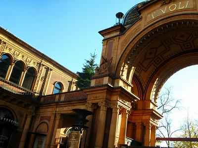 "Entrance to the legendary ""Tivoli"" theme park."