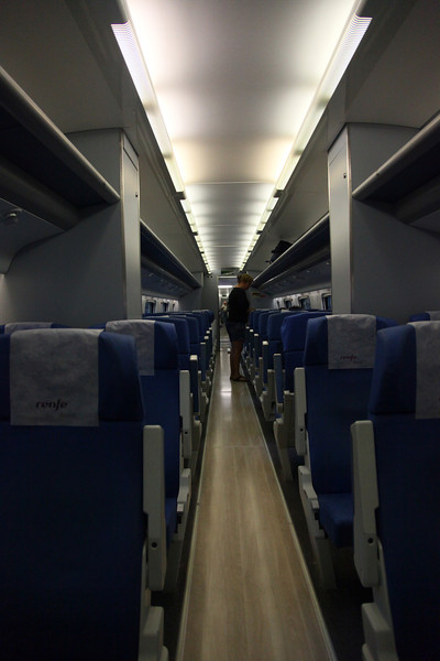 Inside shot of the highspeed train.<br /> Stylish, straightforward, confortable..