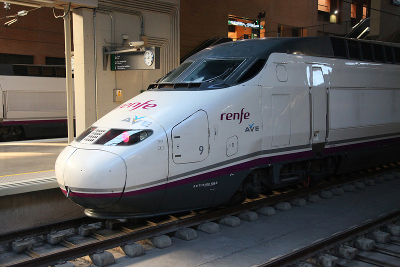 """We took this very train to get to and from Cordoba. Great experience.<br /> Alta Velocidad Española (AVE) is a service of high-speed trains operating at speeds of up to 300 km/h (186 mph) on dedicated tracks in Spain. <br /> The name is literally translated from Spanish as """"Spanish High Speed"""", but also a play on the word ave, meaning """"bird""""."""