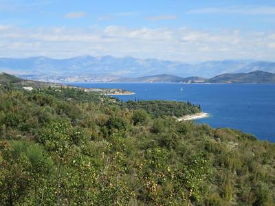 Uitzicht op Albanië