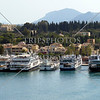 A view of the shipping port at Corfu, Greece.