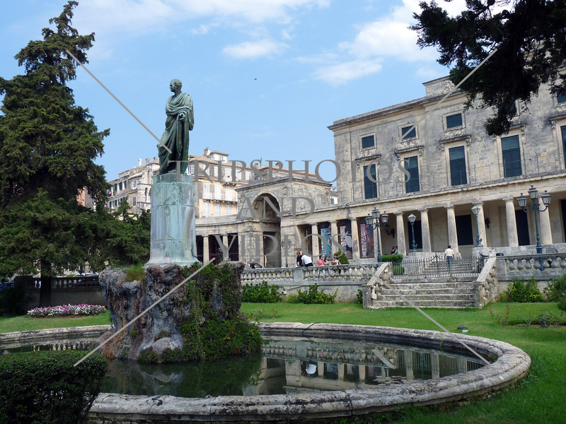 The Palace of Saint Michael & George in Corfu, Greece.