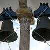 Tower bells at the Monastery of Virgin Mary near the Paleokastritsa village in Greece.