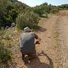 Dan Danahar photographing Queen of Spain Fritillary, Issoria lathonia from Corfu 800