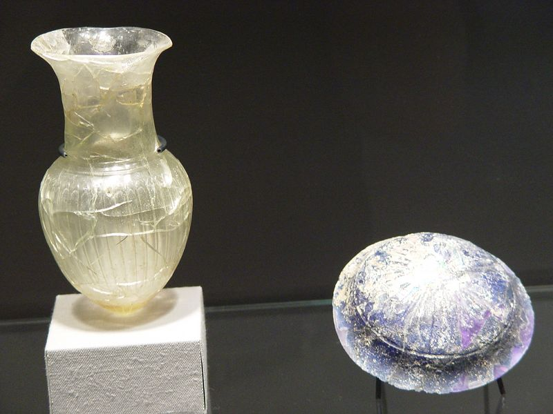 Ancient Roman glass at the Corning Museum of Glass in Corning, NY
