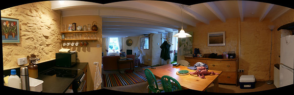 Technically this belongs in the 'HDR & Panoramas' gallery but it seemed more appropriate to place it here. This is a composite shot of 3 original photos, all taken from one corner of the cottage that we stayed in.