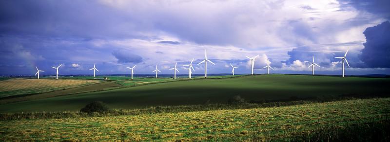 Wind Farm at Newlyn Downs, Cornwall, UK