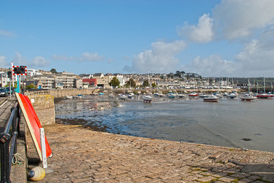 Penzance Harbour at low tide