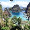 View from Kayangan deck in Coron, Palawan, Philippines.