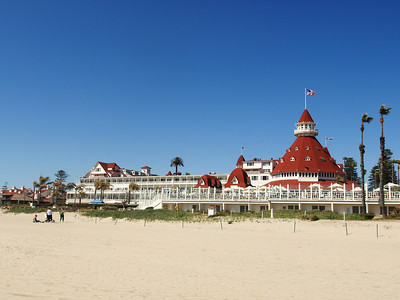 Hotel Del on Coronado Beach - California