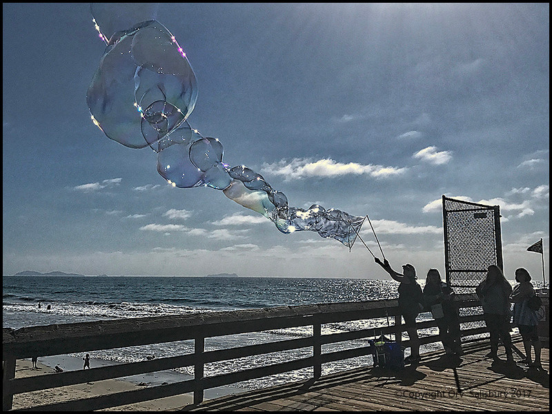 Bubbles at Imperial Beach Pier