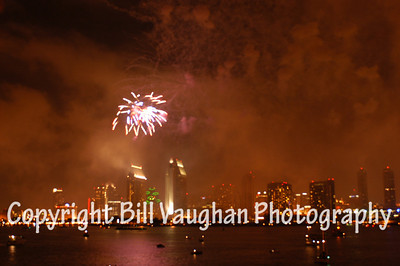 Fireworks, 4th of July, Coronado Island, San Diego, Ca.