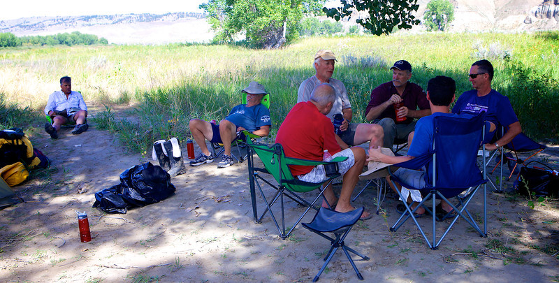 Teaching David Hara pinochle at primative camp, River Mile 142.2