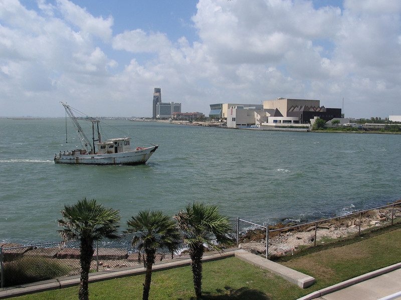 View of the Corpus Christi Bay, from the Texas State Aquarium