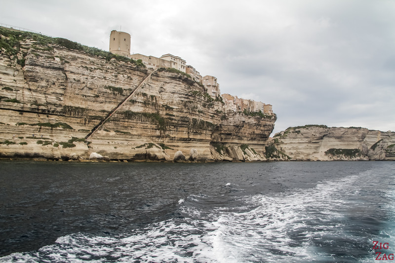Bonifacio cliffs by boat 2