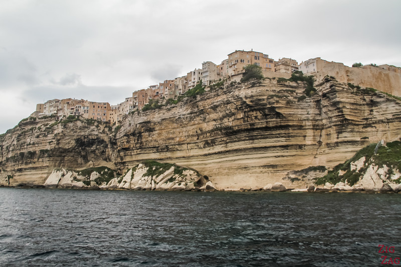 Bonifacio cliffs by boat 1