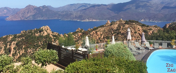 Where to stay in Piana Corsica hotel with view