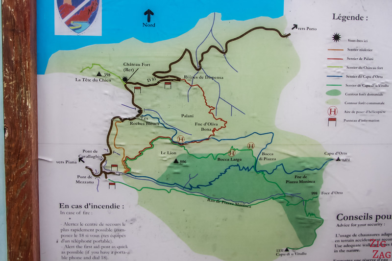 Hiking map Piana