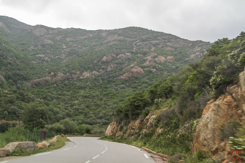 Types de routes en Corse
