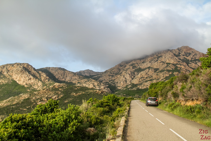 Road Conditions Corsica - stopping for the view