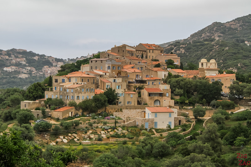 Corse en Photos - Villages en haut de colline