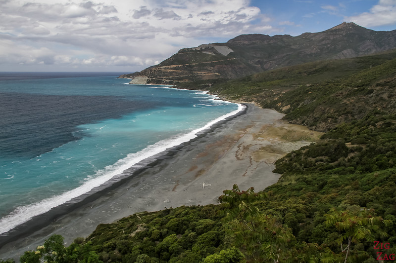 Cap Corse beaches - Nonza black beach