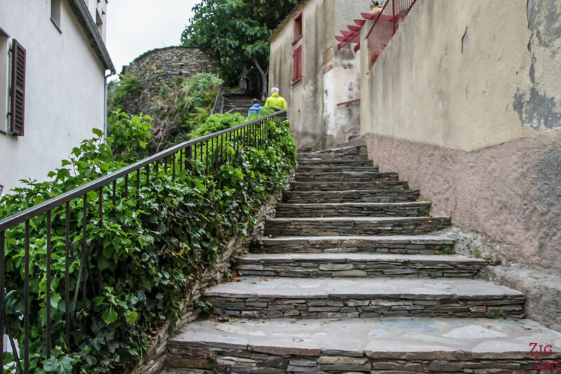 stairs to Cimb to Tower of Nonza Cap Corse 1